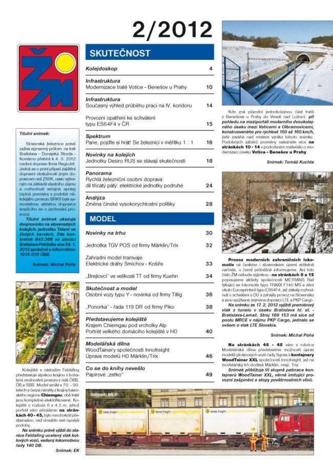 zeleznicni magazin 2/2012 obsah