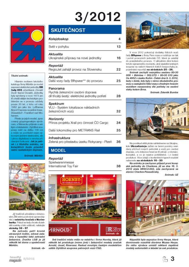 Zeleznicni magazin 3/2012 obsah