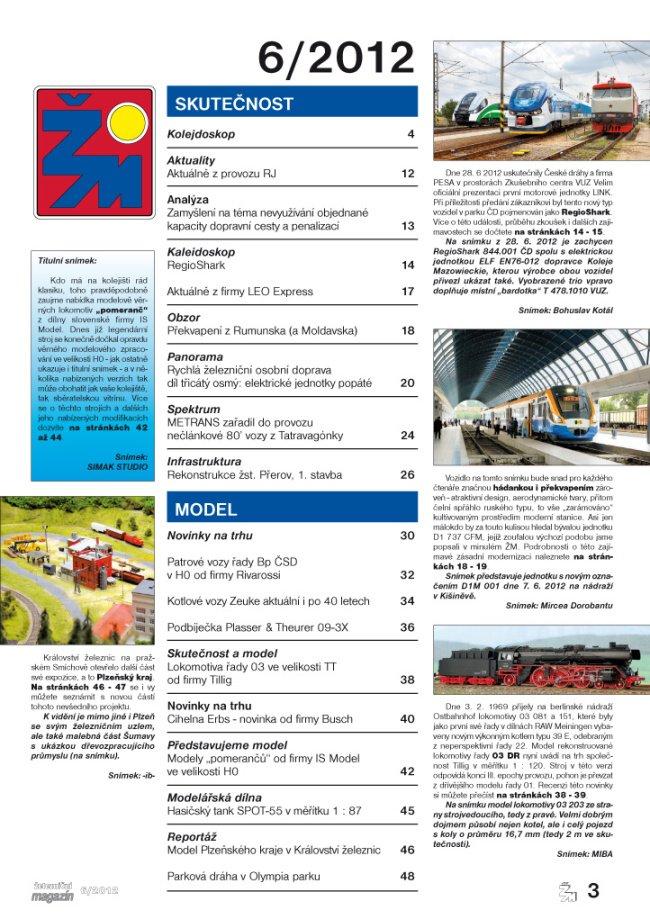 Zeleznicni magazin 6/2012 obsah