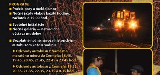 Kosicka detska historicka zeleznica - noc svetiel
