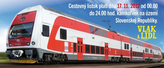 Vlak a lidl 2012