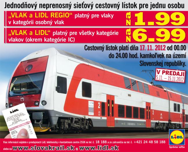 Vlak a Lidl, Vlak a Lidl Regio 2012