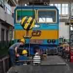 DKV Brno Maloměřice bylo po celou dobu veřejného otevření v plném pracovním nasazení, jak dokládá snímek údržby 362.163