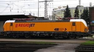 RegioJet 193.214, Žilina 25.11.2014. Foto: Róbert Rudišin