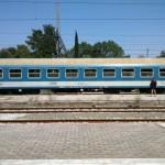 Náš maďarský lôžkový vozeň Bc 003 v stanici Idomeni.