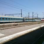 Vlak 335 Hellas v stanici Idomeni pred odchodom.