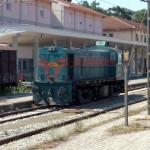 Grécka dieselová lokomotíva Alco RS-8 radu A-209 v stanici Idomeni.