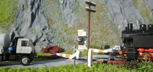diorama - železničné priecestie
