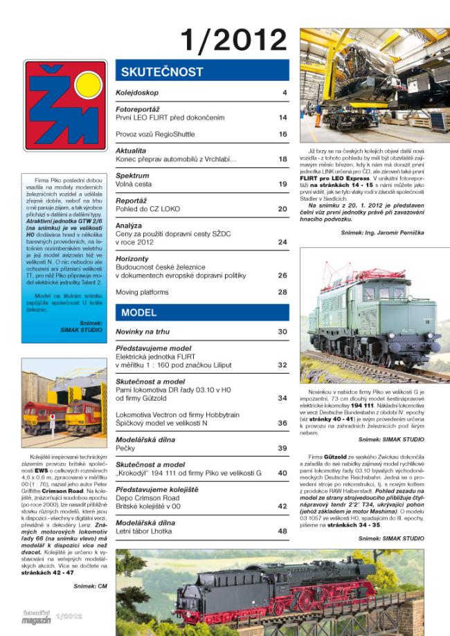 Zeleznicni magazin 1/2012 obsah
