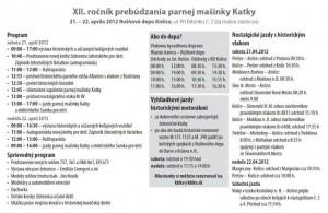 Prebudzanie Katky 2012 program