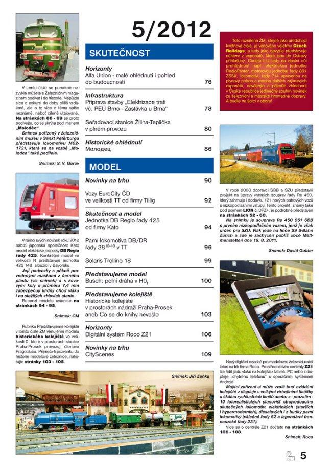 zeleznicni magazin 5/2012 obsah