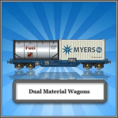 Trainstation Dual Material Wagons