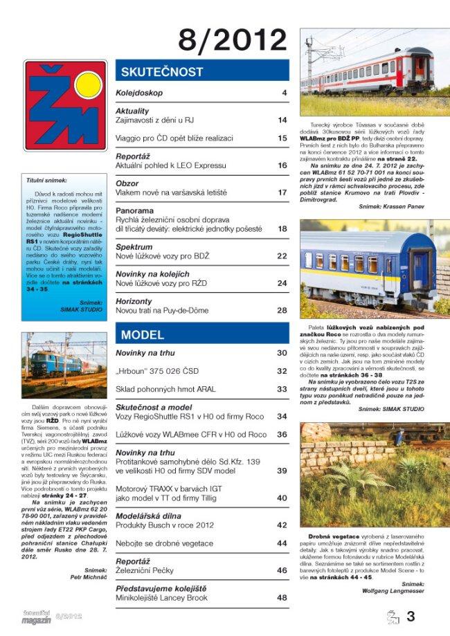 Zeleznicni magazin 8/2012 obsah