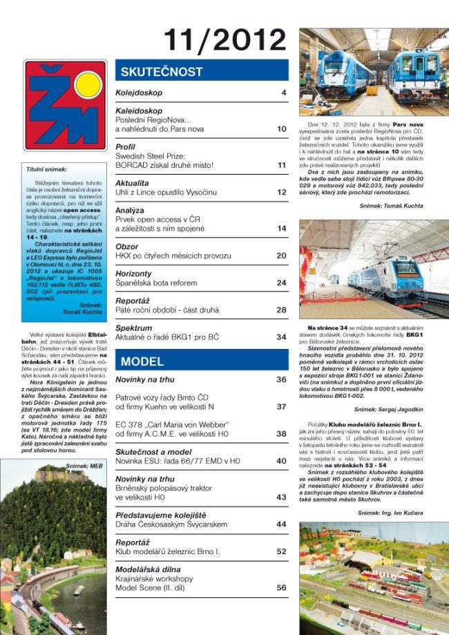 Železniční magazín 11/2012