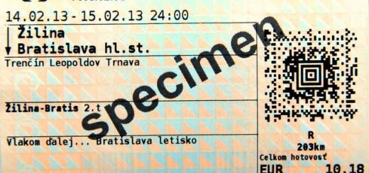 ZSSK novy cestovny listok